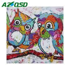 <b>AZQSD</b> DIY Full Square <b>Diamond Mosaic Animal</b> Painting Set Home ...