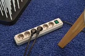 <b>Eco</b>-<b>Line</b> extension <b>socket</b> with switch <b>3</b>-way blue 1,5m H05VV-F ...
