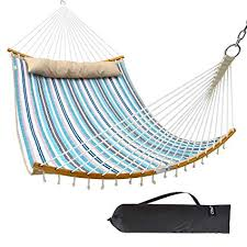 Ohuhu Double Hammock Quilted Fabric Swing with ... - Amazon.com