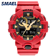 <b>SMAEL</b> Brand Men <b>Watches Digital Sport Watch</b> Golden Stopwatch ...