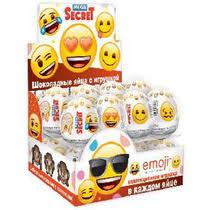 <b>Яйцо шоколадное Emoji</b> с игрушкой 20 г купить с доставкой по ...