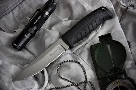 Туристический <b>нож</b> Финский <b>Х12МФ</b> Черный Эластрон - ПП ...