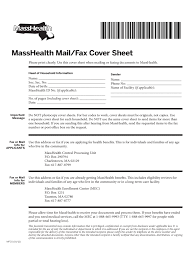 masshealth fax cover sheet templates in pdf word excel masshealth mail and fax cover sheet