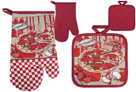 """Кулинария-2"": <b>варежка</b> + прихватка Полиэстер, красный ..."