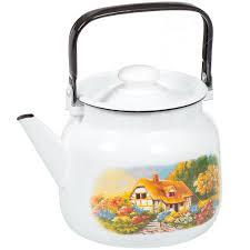 <b>Чайник эмалированный</b> ЛЗЭП Лысьва С-2713П2/4Рч Хуторок ...
