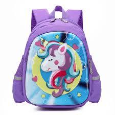 Buy Toddlers' School Bag <b>Cartoon 3D Unicorn Pattern</b> Light Weight ...