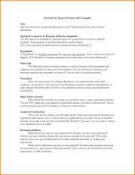 Example Of A Business Report Format Free Resume Daily  Formal Resume Format Template