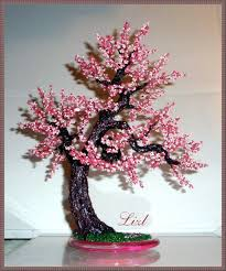 """Дерево """"Сакура"""". Здесь больше - Бисерные <b>бонсаи</b> - Pinterest"""