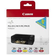 Характеристики модели <b>Набор картриджей Canon PGI-29</b> C/M/Y ...