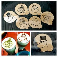 Moomin <b>Character Transparent</b> Stencils Cupcake <b>Coffee</b> Craft ...