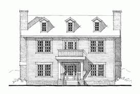 Eplans Georgian House Plan   Three Bedroom Georgian   Square    Front