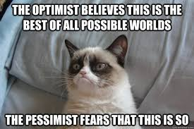 the optimist believes this is the best of all possible worlds the ... via Relatably.com