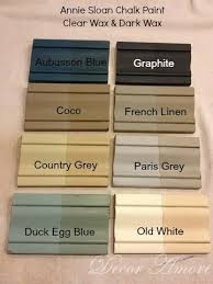 decor amore my annie sloan chalk paint color boards with dark wax and clear chalk paint colors furniture ideas