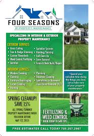 landscape maintenance advertisement sticky flyer advertising home maintenance sticky note