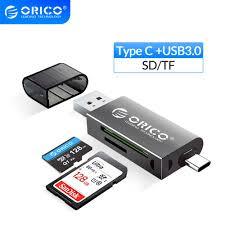 Картридер <b>ORICO</b> USB 3,0 2 в 1, <b>SD</b>/<b>Micro SD</b> TF OTG ...