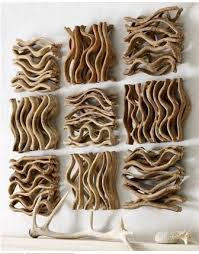 it is fascinating that a person patiently matched enough pieces to create these organic segments of driftwood artistic wood pieces design