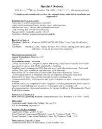 telecom technician resume sample telecom resume examples