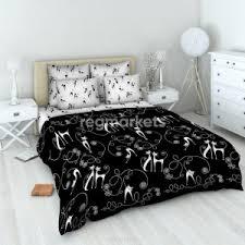 Постельное белье черно-белое с кошками в Таганроге 🥇