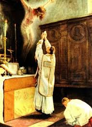 Image result for benedict consecration drawing versus populum