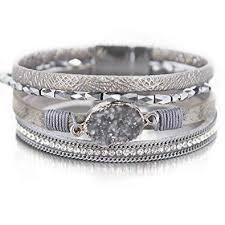 Amazon.com: Silver Wrap Bracelet Boho <b>Jewelry</b> Cuff Bracelet ...