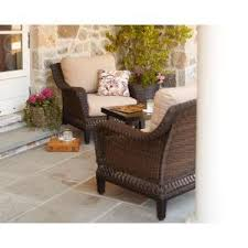 patio furniture outdoor lawn garden hampton bay woodbury with textured sand cushions amazoncom patio furniture