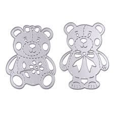 <b>2pcs</b> set Lively Bear Designs Metal Cutting Dies Stencils for ...