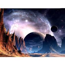 <b>Alien</b> planet night sky diamond Embroidery diy diamond painting ...