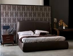 beds bold bed brown leather bedroom furniture