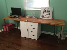 office desks and room decorating ideas with gray solid wood desk chairs simple rectangle flat eased beauteous home office work