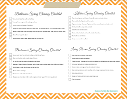 lazy girl s spring cleaning checklist printable