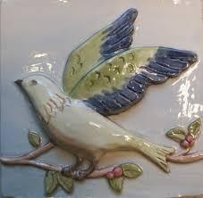 <b>Handpainted Birds</b> on a Vine Pattern | Far Ridge Ceramics
