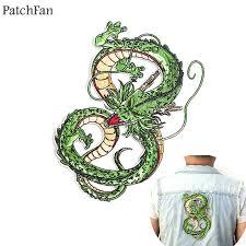 <b>Patchfan Dragon ball z</b> Shenron applique patches diy iron on para ...