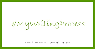 a green square with a hash tag inside that says #MyWritingProcess