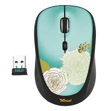 <b>Мышь</b> беспроводная <b>TRUST YVI Wireless Mouse</b> Flower (19521 ...