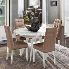 round glass extendable dining table:  italian glass extending dining table part of the dama bianca collection