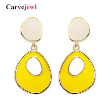 2019 <b>Carvejewl</b> Colorful Enamel Clip Earrings Without Piercing ...