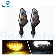 Ramanta <b>2 PCs Motorcycle Turn Signal</b> Lights, Universal Led Front ...