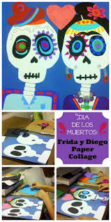best images about dia de los muertos sugar skull modern art 4 kids datildeshya de los muertos calavera collage paper collage tutorial for day