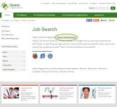 job search diagnostic laboratory of oklahoma dlo job search instructions through quest diagnostics step 1
