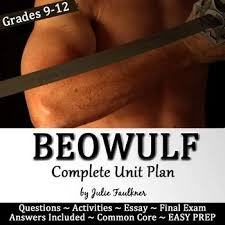 images about english beowulf on pinterest   great    beowulf literature guide  unit  creative  info text  task cards  essay  test