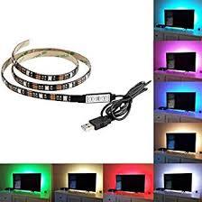 XERGY <b>USB 5V</b> Powered <b>RGB LED</b> Flexible Strip Light With Mini ...