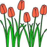 Image result for spring flowers clip art