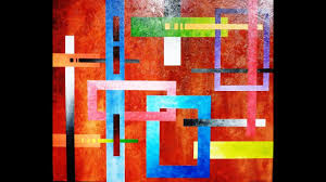 <b>Geometric Abstract</b> Art lesson preview how to paint large texture ...