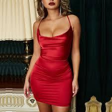 <b>Parthea</b> Lavender Satin Dress Women Sexy Low Cut Backless ...