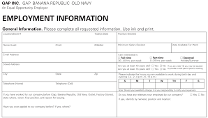 burlington coat factory job application form online template design old navy job application printable job employment forms for burlington coat factory job application form