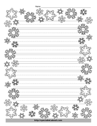 christmas writing paper decorative borders snowflakes snowflake writing template lines christmas writing paper decorative borders