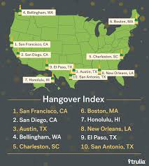 most hungover cities aol finance trulia most hungover cities ranking