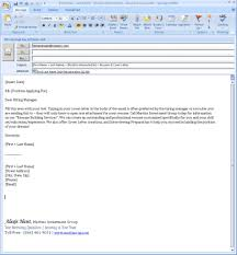 Sample Email To Send Resume And Cover Letter Image Collections