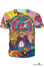 <b>New Fashion</b> Womens Mens Hippie Musician <b>Funny</b> 3D Print ...