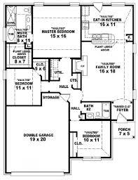 Bedroom Ranch Floor Plans Square Bedroom Ranch Floor Plans    bedroom bath ranch house plans